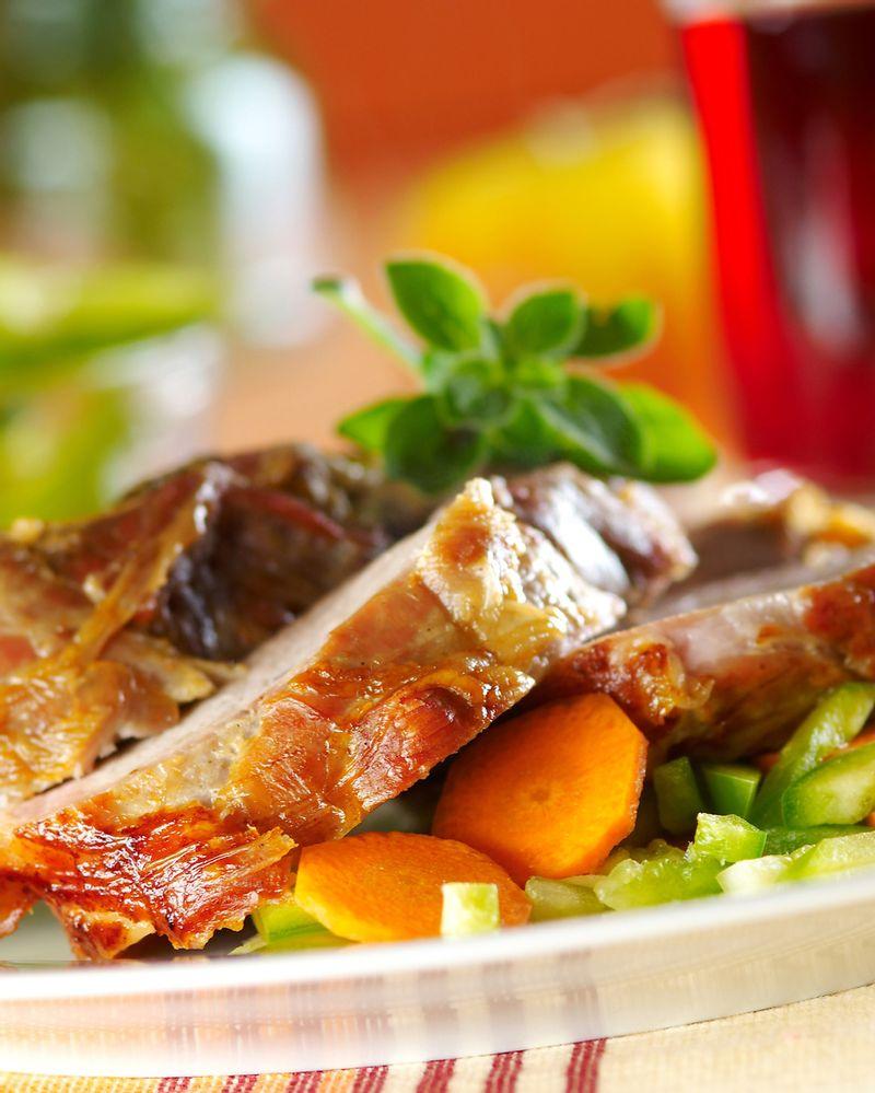 Viande de porc aux légumes