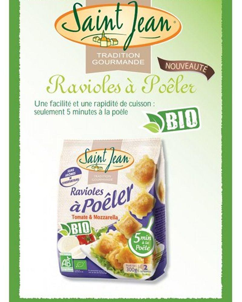Raviole à poêler tomate mozzarella / Saint Jean
