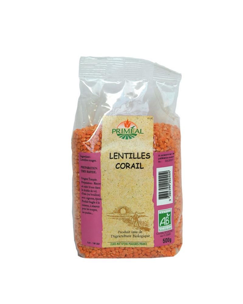 Lentilles Corail Bio Priméal