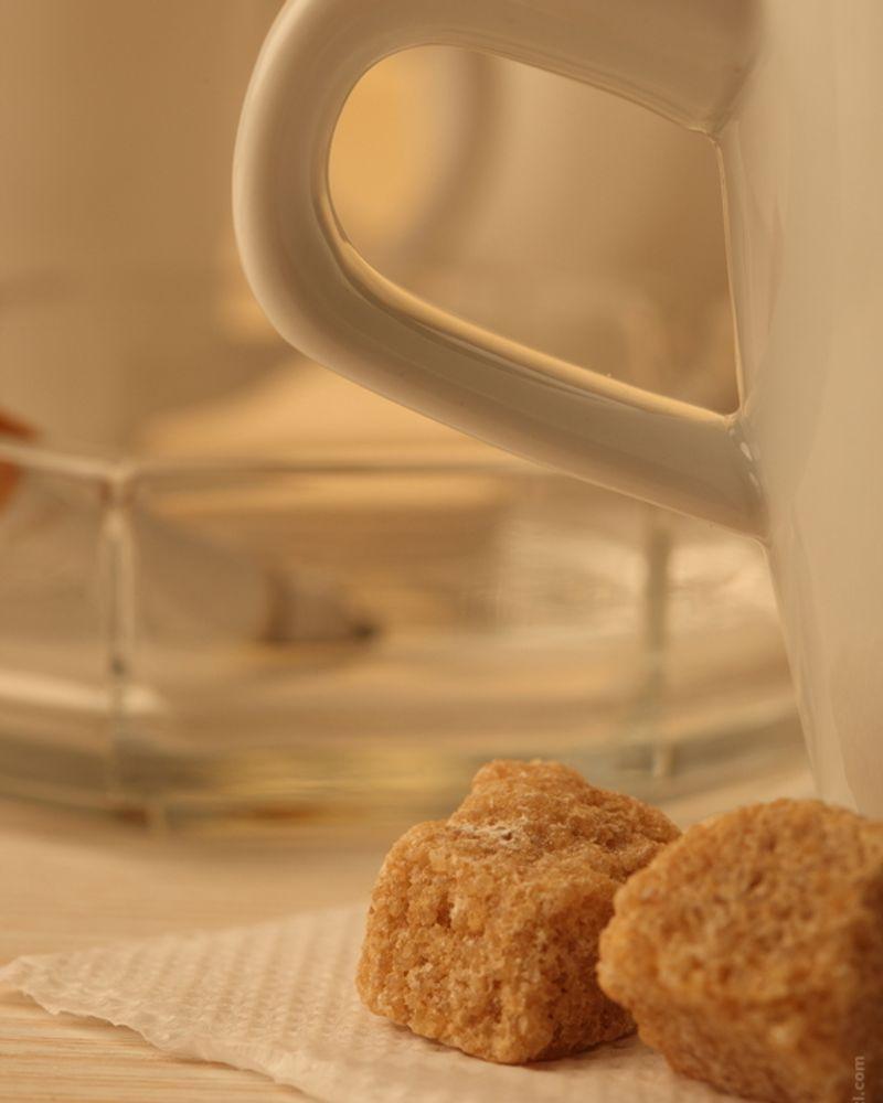 sucre roux tasse café