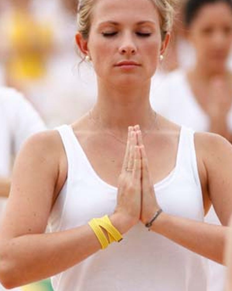 White yoga session