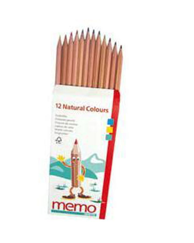 crayons de couleurs mémo