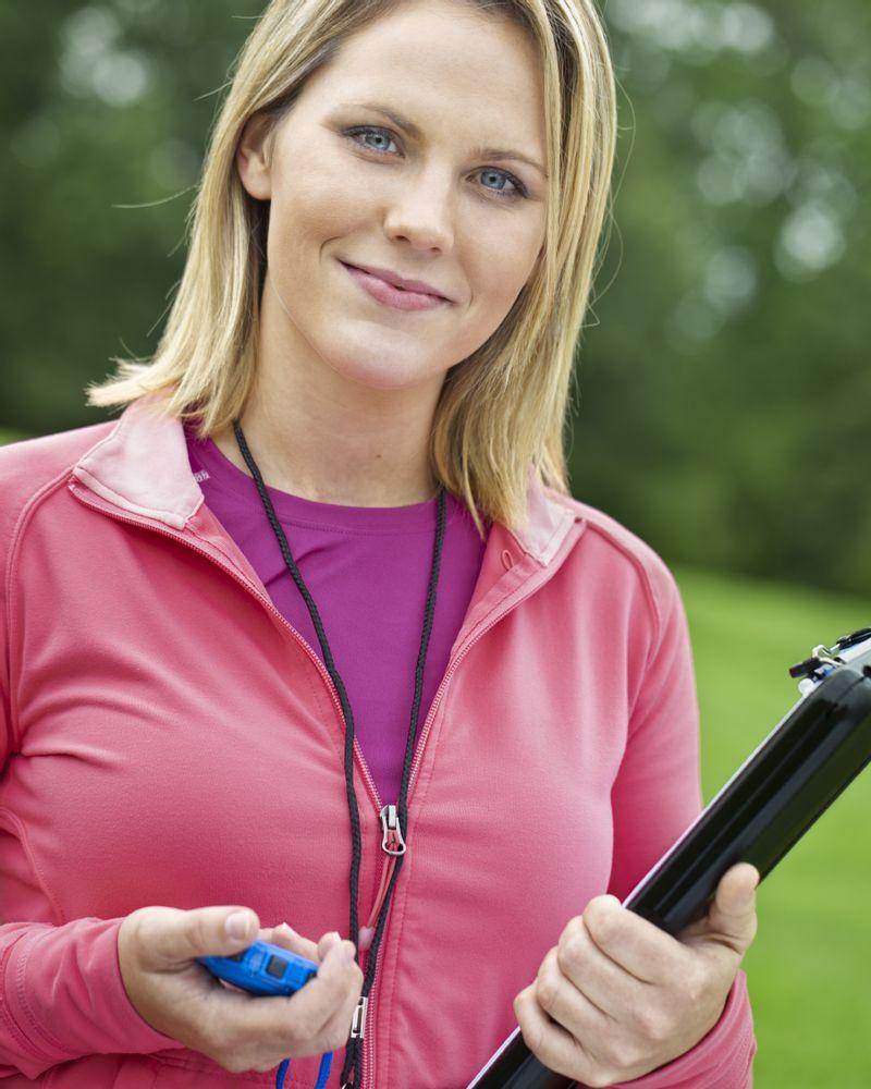 Femme sport coach