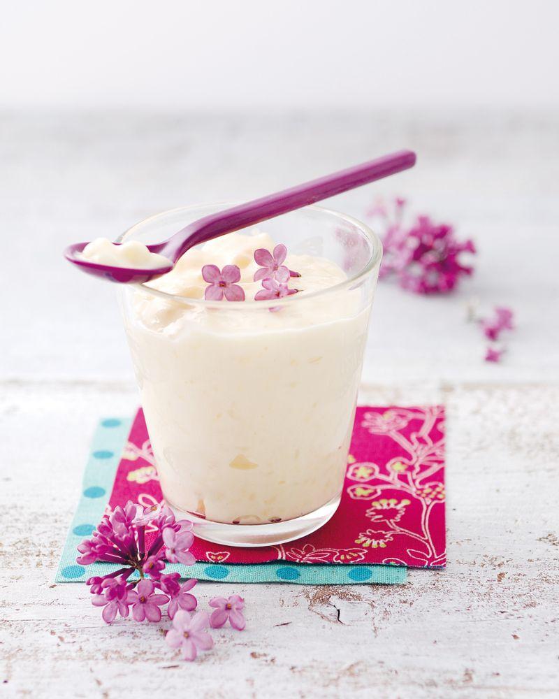 Riz au lait saveur lilas