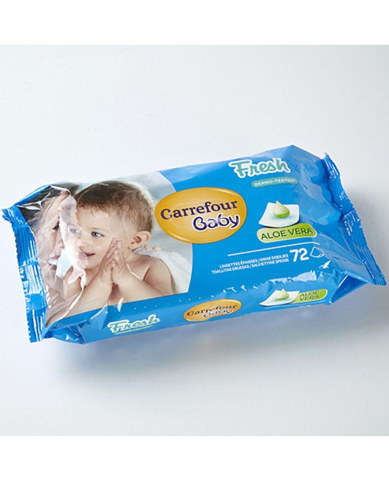 Lingette de toilette pour bébé Carrefour baby fresh
