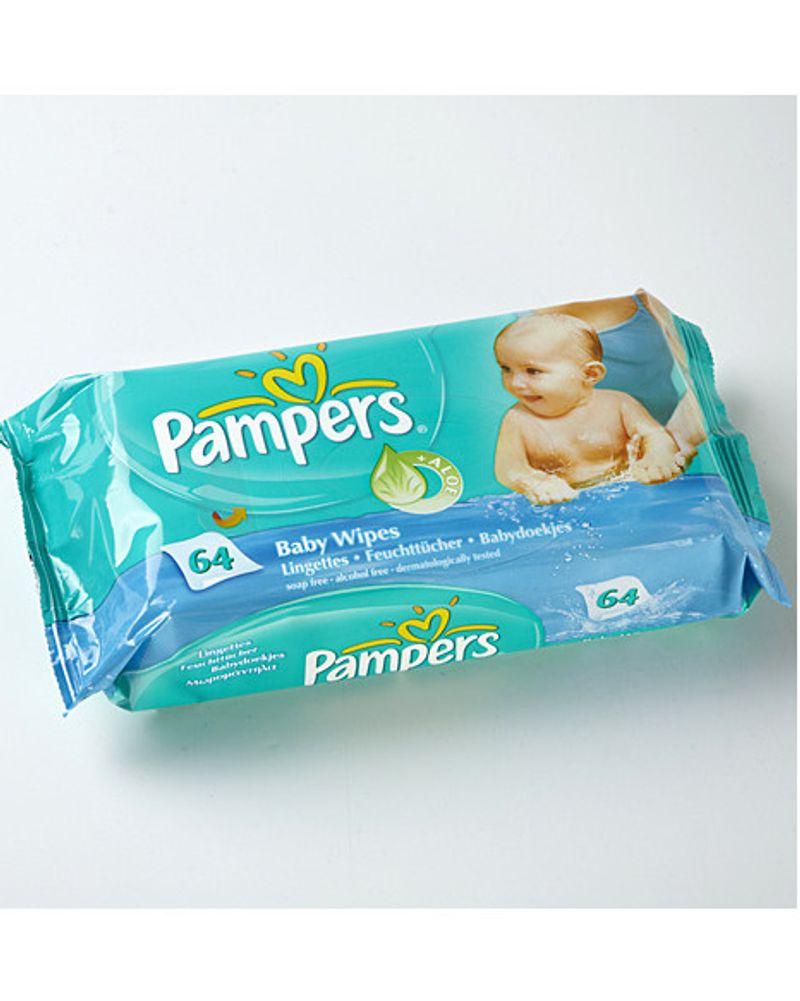 Lingettes de toilette pour bébé Baby wipes + aloe de Pampers