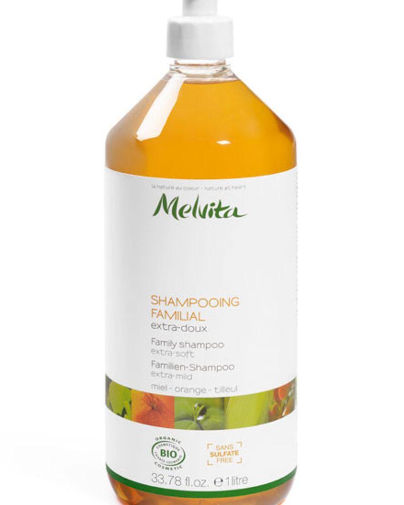 Shampoing familial extra-doux au miel, à l'orange et au tilleul