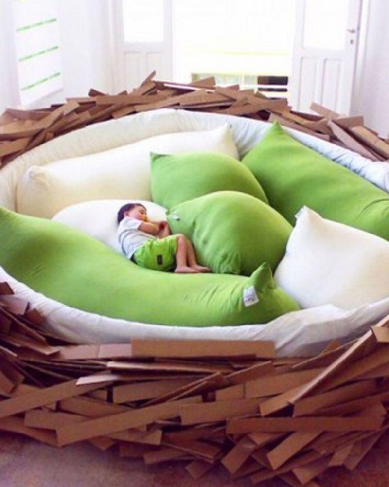 Bird's Nest Bed, un lit comme un nid douillet