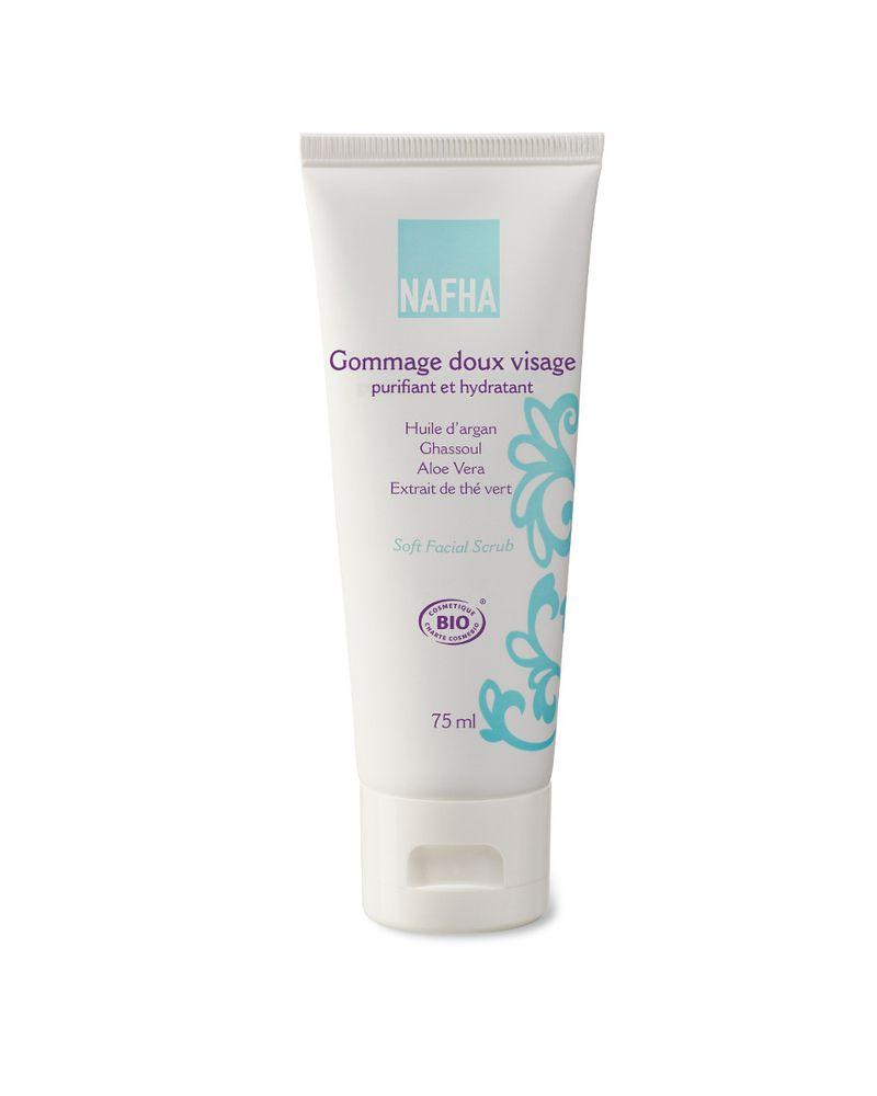 Gommage doux visage purifiant et hydratant de NAFHA