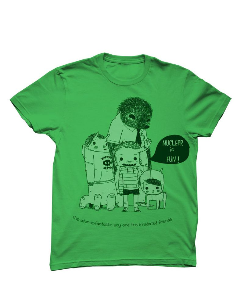 T-shirt vert en coton bio equitable de Monsieur Poulet