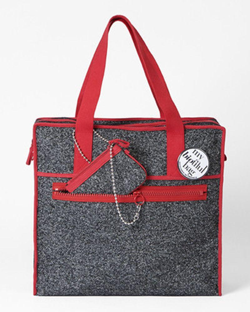 Sac week-end rouge My Biotiful Bag
