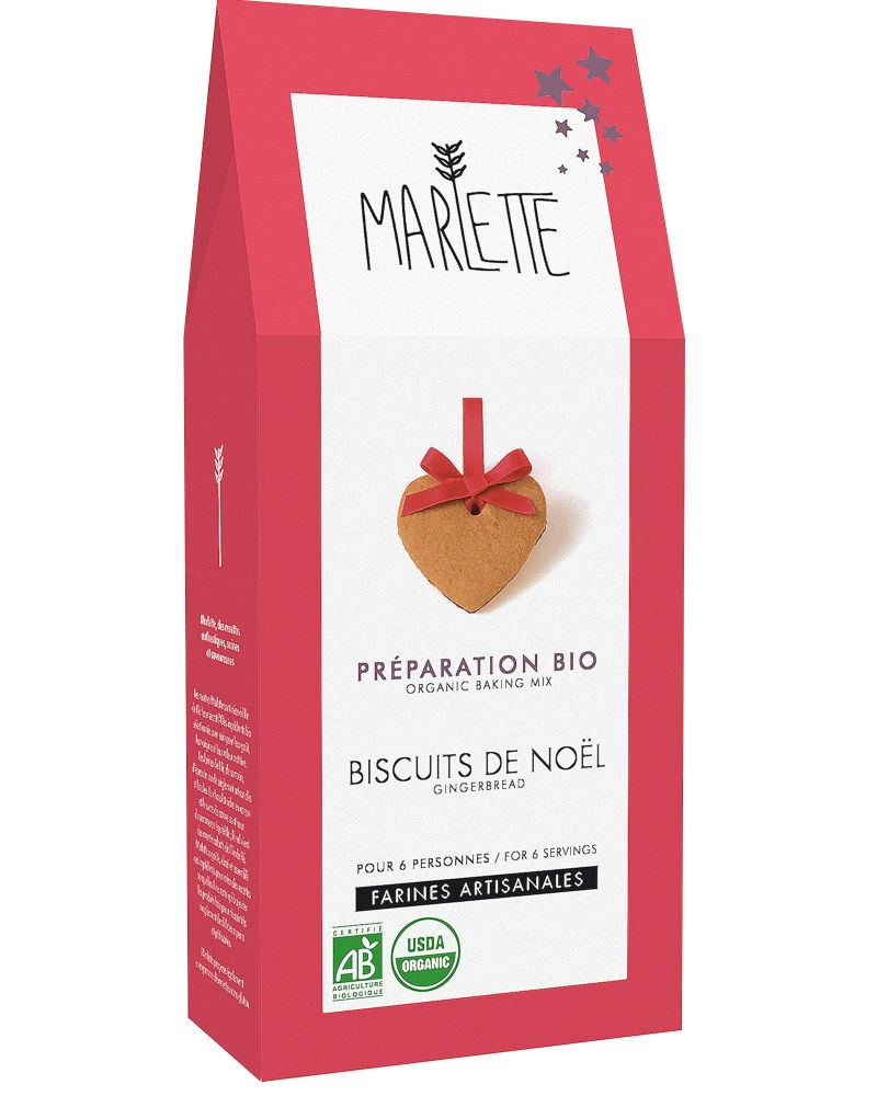 Préparation bio pour biscuits de Noël par Marette
