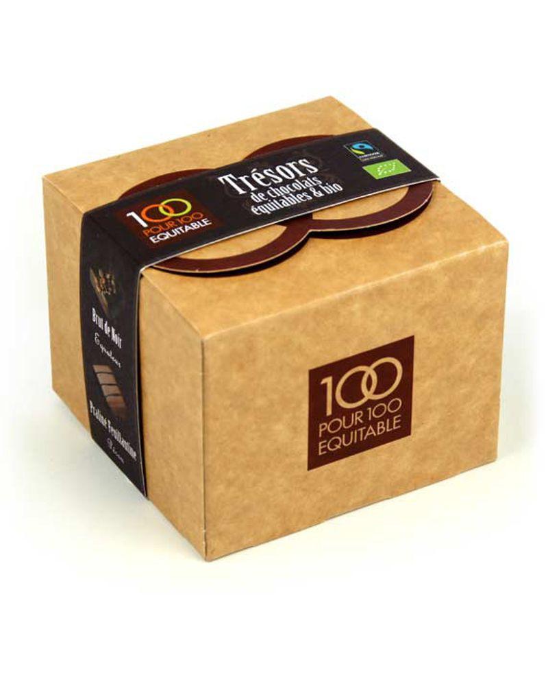 "Ballotin ""Trésor de chocolats"" 120g - Amérique Latine –bio – 120g – 11.60€ - Bienmanger.com"