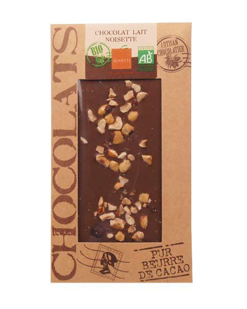 Tablette chocolat au lait et noisette – Bio – 100g – 4.80€ - Bienmanger.com
