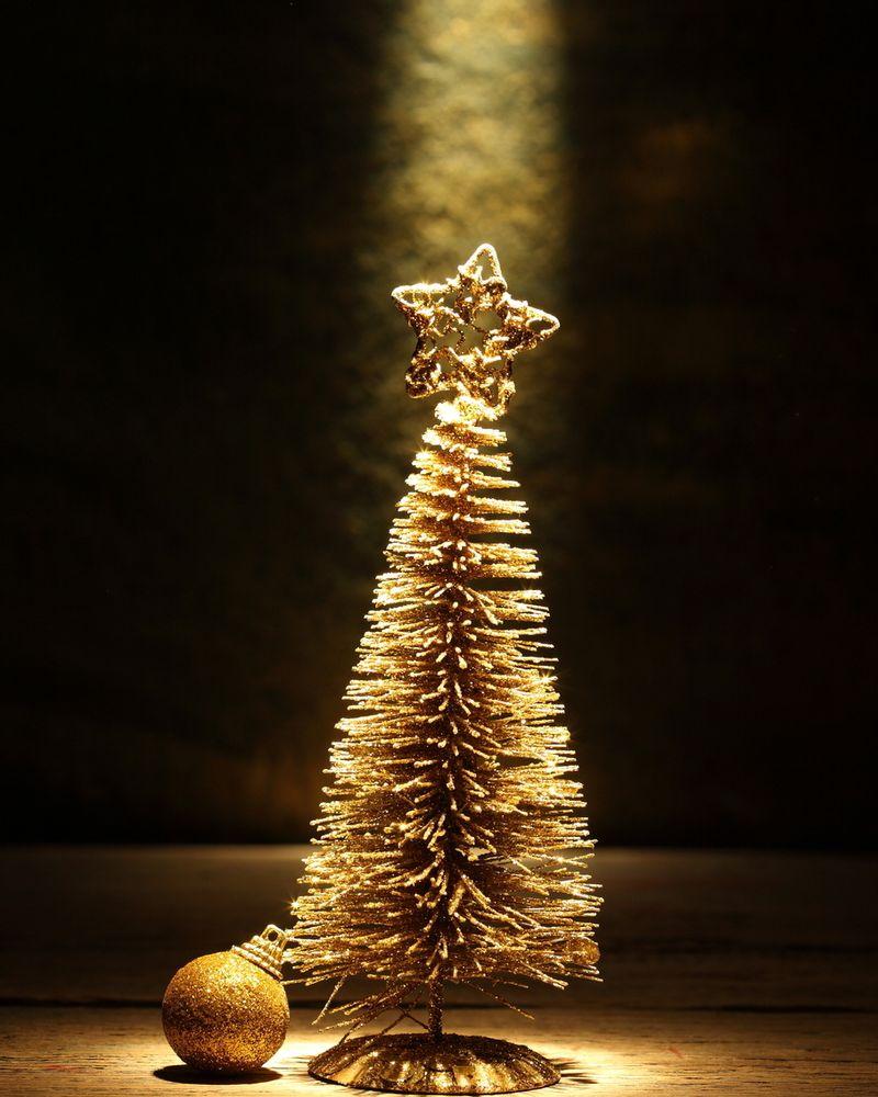 Noël 2013 conscient sapin doré lumière