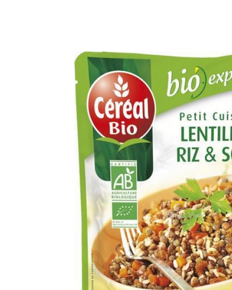 lentilles riz soja céréal bio