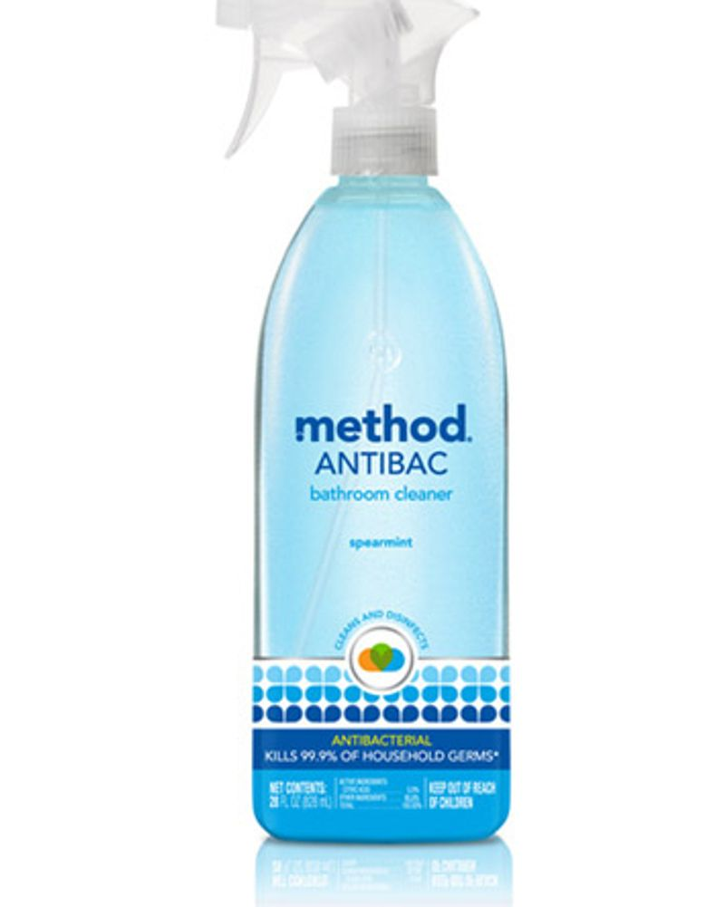 Method nettoyant antibactérien salle de bain
