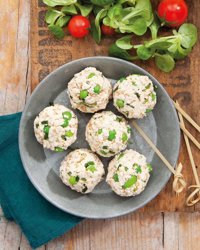 Bouchées fraîches au tofu, edamame et petits pois par Clémence Catz