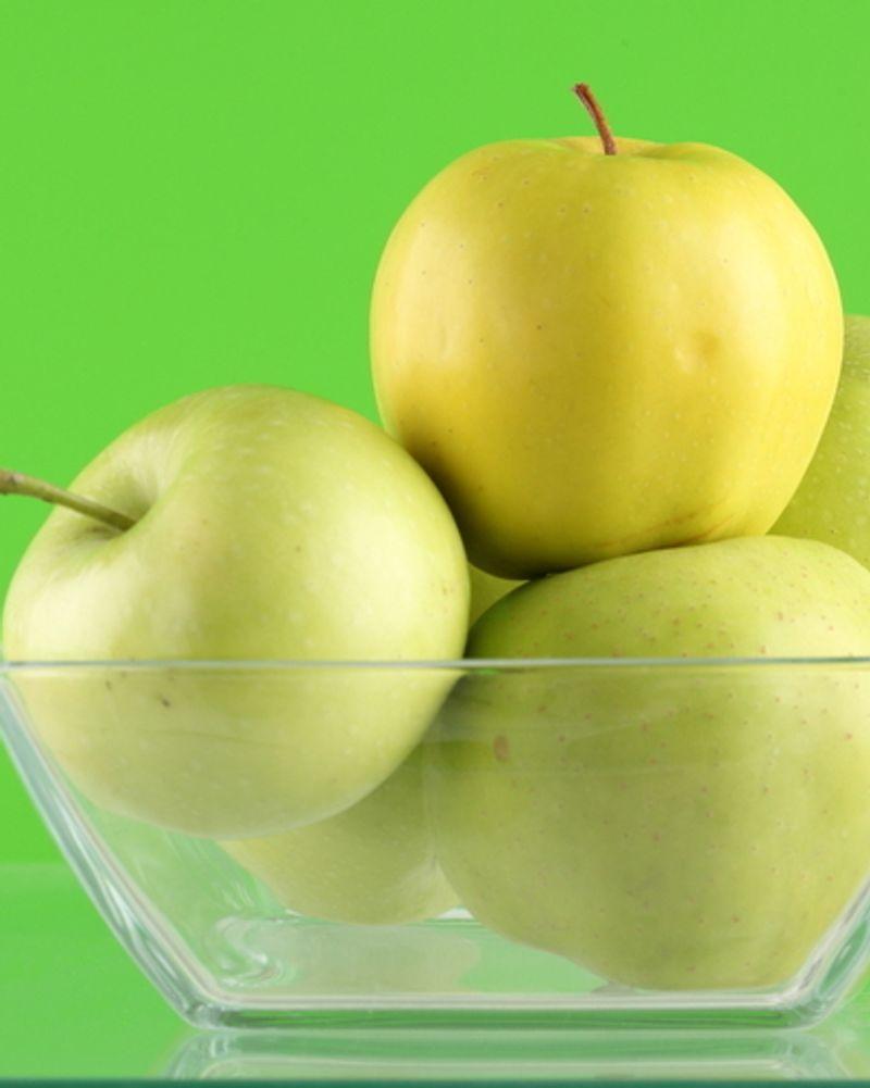 pomme verte jaune fruit