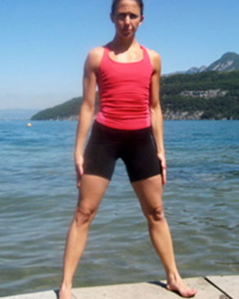 Exercice pour avoir de belles fesse par Barbara Meyer, position de départ