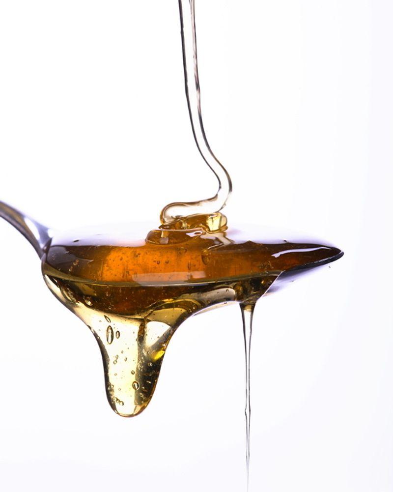 miel sucre cuillère