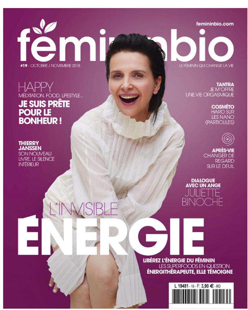 Femininbio magazine 19 juliette binoche octobre novembre 2018
