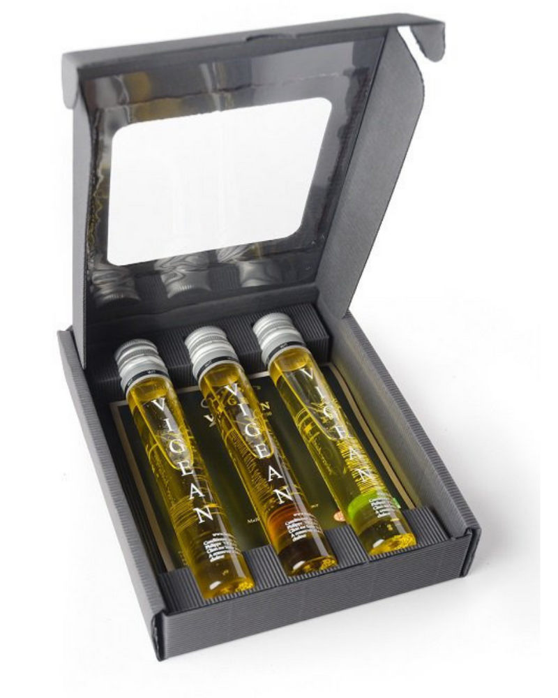 Coffret gourmand 3 tubes, huilerie Vigean
