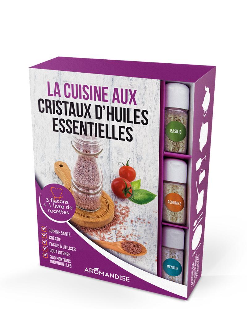 Coffret La cuisine aux cristaux d'huiles essentielles, Aromandise