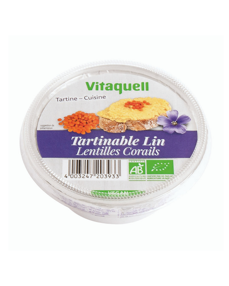 Crème lin lentilles corail, Vitaquell