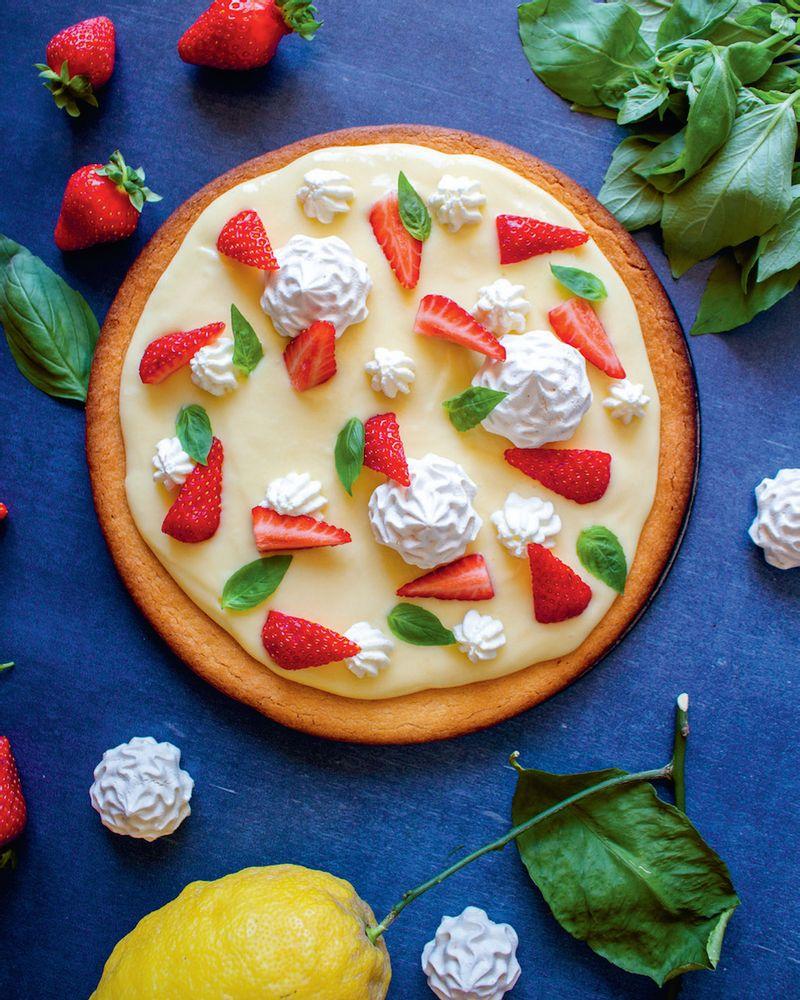 tarte fraise basilic citron