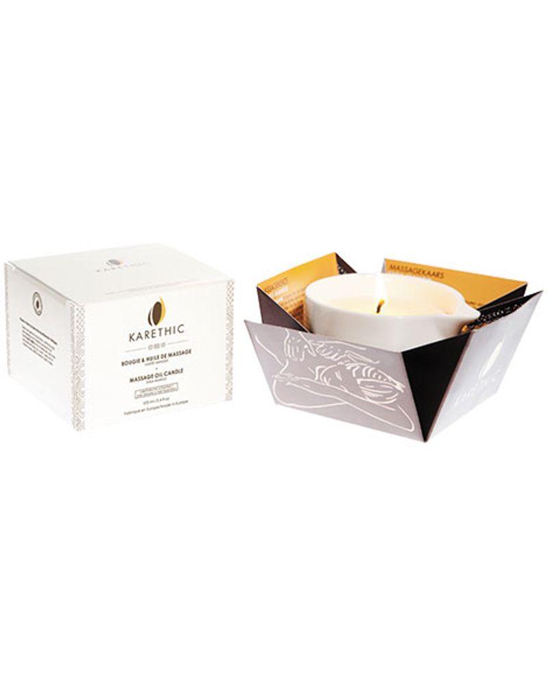 Karethic, bougie de massage au karité pur, parfum mangue