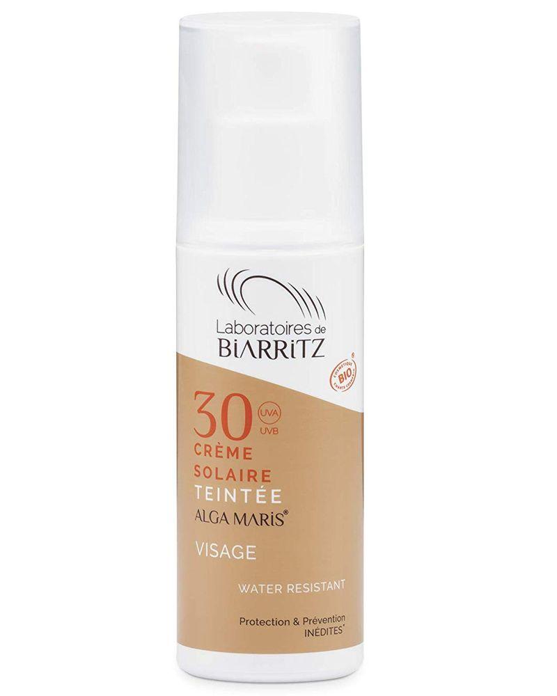 Laboratoires de Biarritz, crème solaire visage teintée SPF 30
