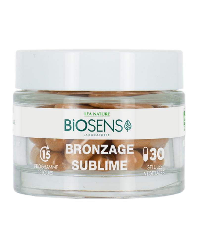 Gélules végétales Bronzage sublime bio, Biosens Laboratoire