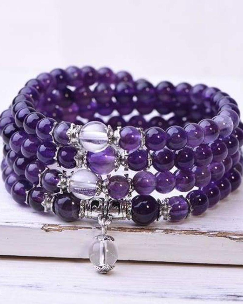 bracelet mala amethyste