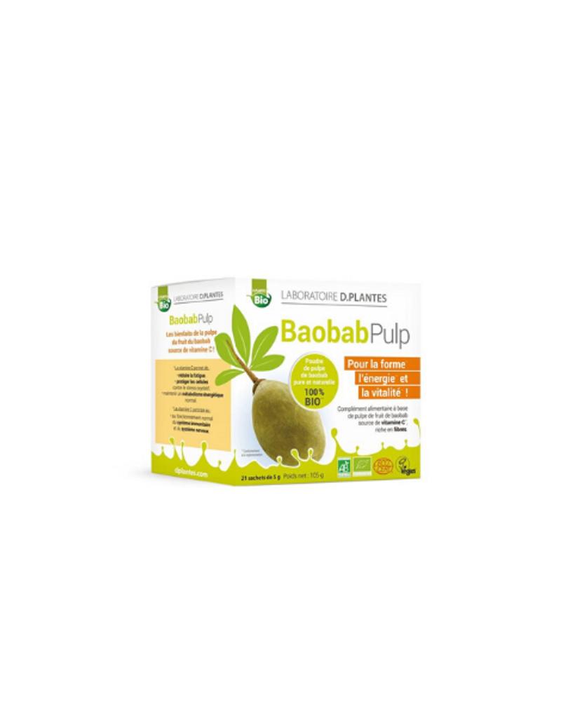 Cocktail vitalité Baobab Pulp bio, Laboratoire D.plantes