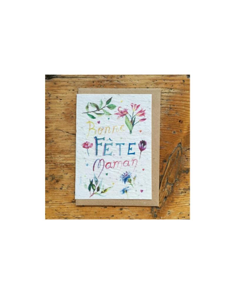 """Carte à planter """"Bonne fête maman"""", Les cartes de Lulu"""