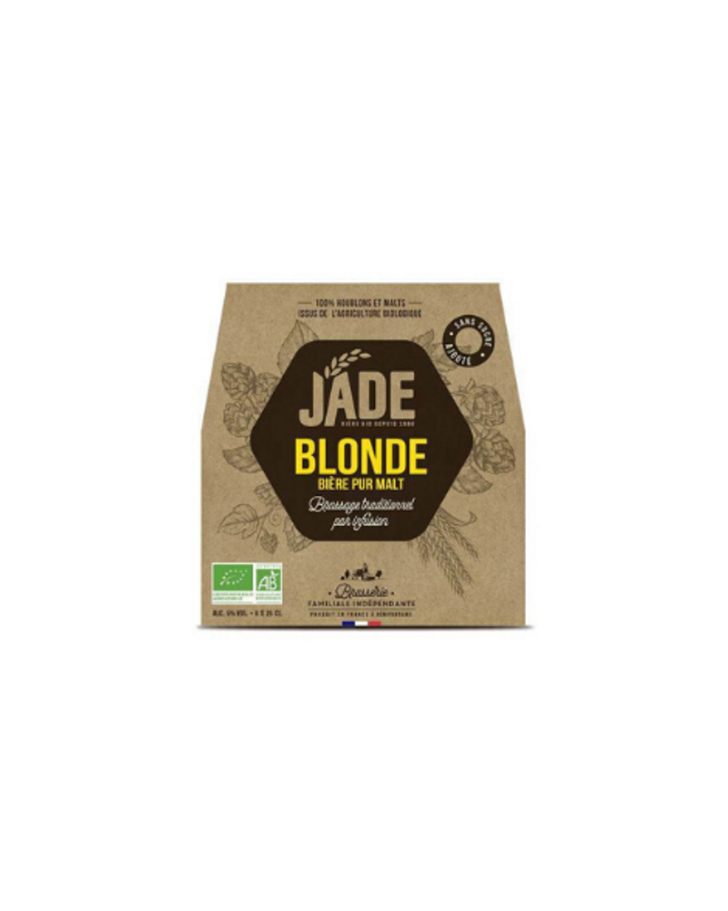 Bière Blonde pur malt Origine France Bio, Jade