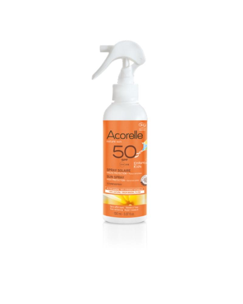 Spray solaire pour enfant SPF 50, Acorelle