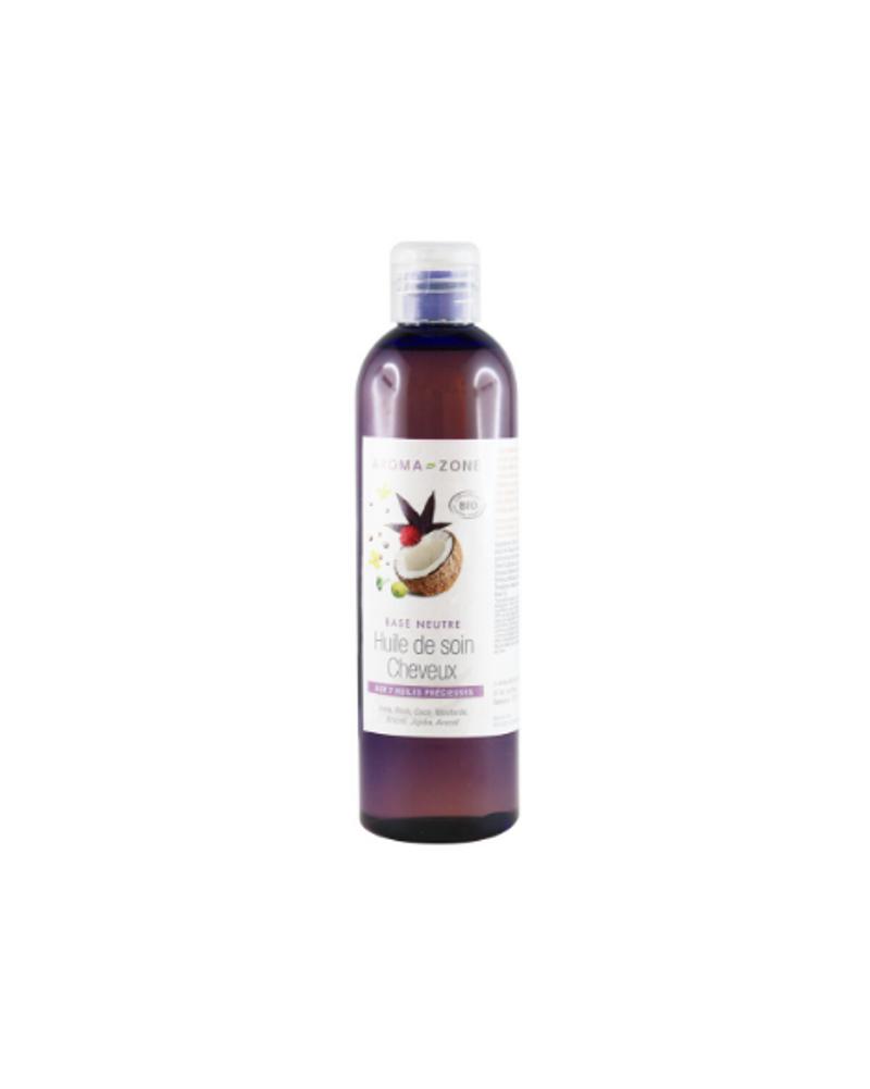 Huile de soin cheveux aux 8 huiles précieuses, Aroma-Zone