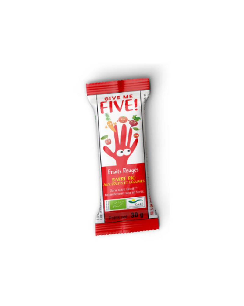 "Barres aux fruits rouges ""Give Me five"", Phytoquant"