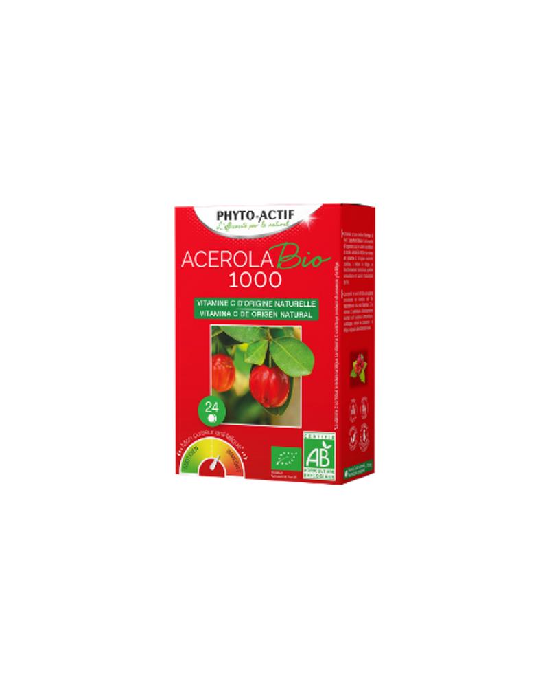 Acérola bio 1000 en comprimés, Phyto actif