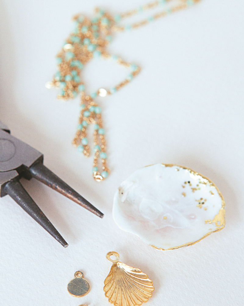 DIY collier coquillage
