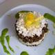 Semoule végétale de chou fleur, sauce curcuma et noix de Dao Nguyen