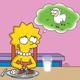 Simpson végétarien viande