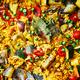 Paella de légumes au riz de Camargue
