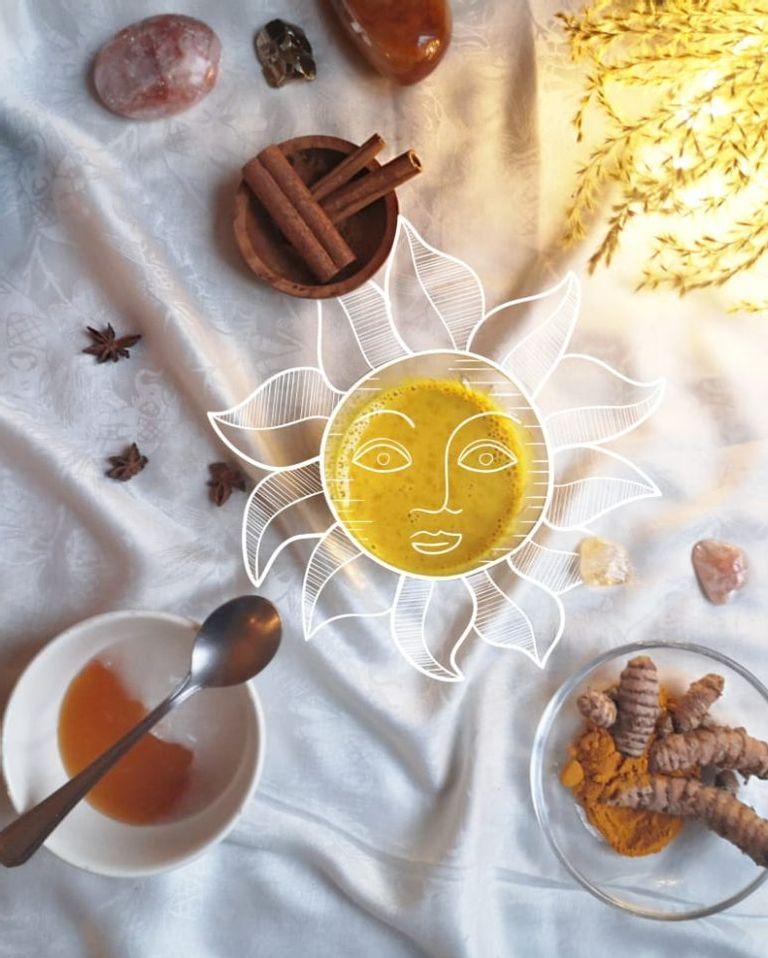 Golden milk pour Solstice d'hiver