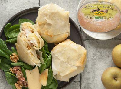 Pastillas aux pommes, jambon cru et Fleurs de brebis (recette Maison Gaborit)