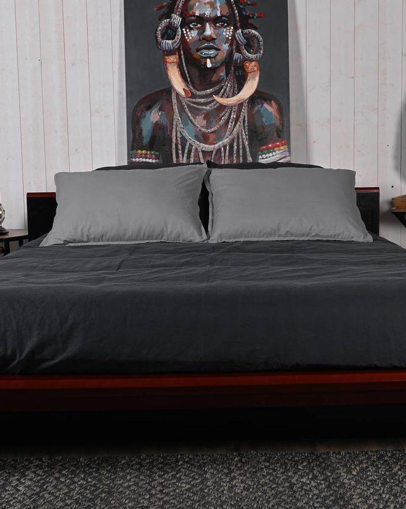 Housse de Couette & Taies d'oreillers en Coton Lavé Biologique - Sensei Maison