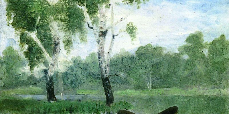 Petit lac avec bateau, Edvard Munch