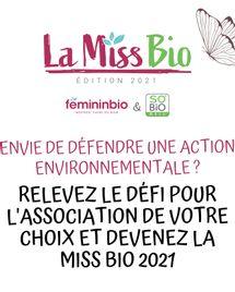 La Miss Bio 2021 : déposez votre candidature